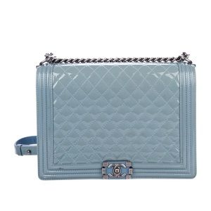 Chanel Extra Large Boybag with silvertone hardware